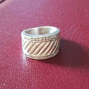 David Yurman Diamond Cigar Band Ring